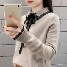 latest Autumn Korean fashion elegant loose knitting sweater coat