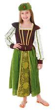 Chicas Bosque DONCELLA Marion Verde CARNAVAL Cuento De Hadas Disfraz NUEVO
