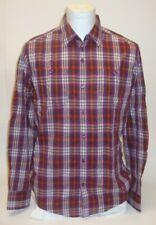 MEXX chemise décontractée Slim homme col kent pour à carreaux manches longues