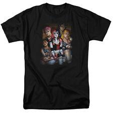 Batman Bad Girls Mens Short Sleeve Shirt Black