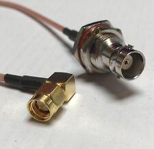 SMA Male Angle to BNC Female Bulkhead Coaxial RG316 CABLE Wireless Antenna USA