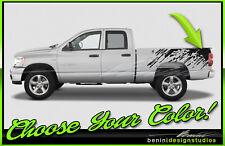 2004 2009 2018 Dodge Ram Mud Splash Raptor Stripes Vinyl Graphics Style 12