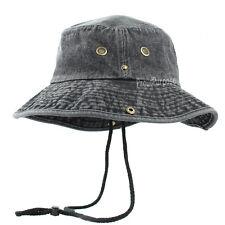 item 1 New Mens Boonie Bucket Wild Brim Hat 100% Cotton Denim Black  Military Safari Cap -New Mens Boonie Bucket Wild Brim Hat 100% Cotton Denim  Black ... 3a6c357e5954
