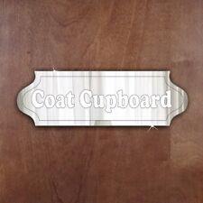 COAT CUPBOARD Door Sign Plaque Signage Personalised Name Office Acrylic Mirror
