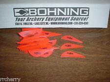 "36 Bohning 2"" BLAZER Arrow Arrows VANES Archery NEON RED fl. flourescent"