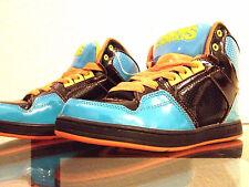 Osiris Boys Hi Top Skateboard Skater Shoes Black Orange Blue Size 5 NEW