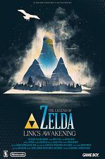 RGC Huge Poster - Legend of Zelda Link's Awakening Nintendo Game Boy GB - EXT780