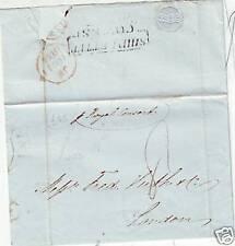 1844 Cowes nave lettera ex BATAVIA A F Huth a Londra per Royal consort nave