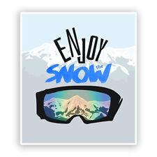 2 x Enjoy The Snow Vinyl Stickers Hiking Ski Snowboarding #7538