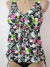 Tankini Set A-Form Damenbademode Gr.42-50 Kleidchenform buntes Blumenmuster big