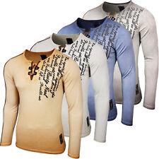 RUSTY NEAL Herren Langarm Figurbetont Longsleeve Hemd T-Shirt Slim RN-10115 NEU