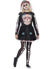 Mexican Day Of The Dead Sugar Skull Sweetie Teen Halloween Fancy Dress Costume