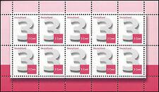 Ergänzungsmarke 3 Cent – nassklebend aus Zehnerbogen – Mi.Nr. 2964 – VARIANTEN