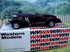 1/43 Western models  (England) Auburn 851 1935 WML 5