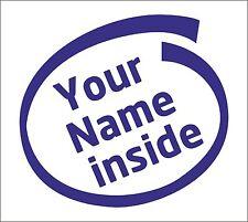 Personaliza tu nombre dentro de Autoadhesiva De Vinilo De Art Car Home Broma Personalizados Graciosas