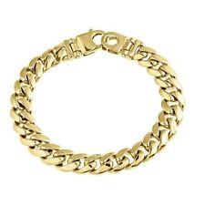 Mens Miami Cuban Link Curb Bracelet Handmade 14k Solid Yellow Gold 56 grams 10MM