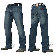 NUOVO da uomo blu scuro denim jeans pantaloni taglia VITA 30 32 34 36 38 40 42
