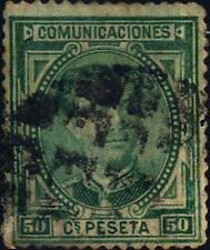 SPAGNA - 1876 - Effigie di Re Alfonso XII. Nuovo tipo - 50 cent. verde