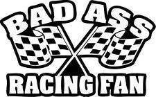 BAD Ass RACING Fan Divertente BARCA CAMPER AUTO MOTO Van Paraurti Adesivo Decalcomania ref 35
