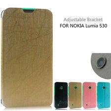 New Rain Serier PU Leather Flip Cover Case for Nokia lumia 530