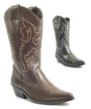 Señoras para mujer BNIB Auténtico Cuero Cowboy Western Estilo Botines Zapatos Botas Tamaño