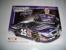 RICHARD JOHNS 2007 FREE CREDIT REPORT BUSCH POSTCARD