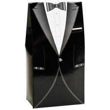 BLACK AND WHITE MENS TUXEDO WEDDING DIY FAVOUR BOXES PARTY BOX BOXES (NEW STYLE)