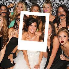 White MDF Polaroid Photobooth Frame Photo Booth Wedding Birthday