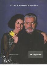 PUBLICITE 1990   PACO RABANNE eau de parfum CALANDRE