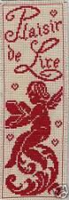Grille point de croix - MARQUE-PAGE - PLAISIR de LIRE - réf : 6513