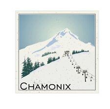 2 x CHAMONIX SNOWBOARD SKI RESORT Adesivo Vinile BAGAGLI DA VIAGGIO AUTO IPAD #0122