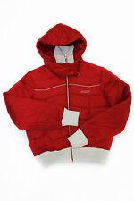Giacca da donna rosso bianco Roxy con cappuccio manica lunga casual moda