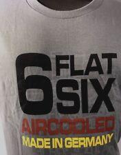 Air Cooled Flat Six 6 T-Shirt Porsche German Racing