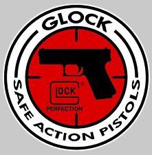 STICKER GLOCK PISTOLET REVOLVER SAFE ACTION PISTOLS AUTOCOLLANT GA030