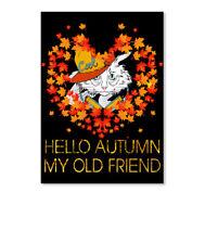 Hello Autumn My Old Friend Cat Sticker - Portrait