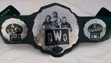 NWO New World Order Wrestling Champion Belt Metal Plates Leather Replica Adults