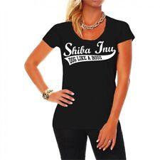 Frauen Damen T-Shirt Shiba Inu Hunderasse dog breed wild Jagdhund Welpen Züchter