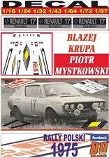 DECAL RENAULT 17 GORDINI BLAZEJ KRUPA RALLY POLSKI 1975 (07)