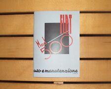 Uso e manutenzione  FIAT 500 A TOPOLINO Owner's manual use and maintenance