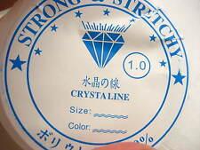 1 mm Chiaro Cristallo ELASTICO STRETCH filettatura chiara della pesca fili filo