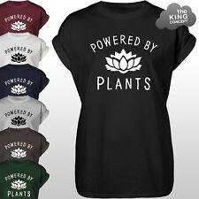 Powered By Plants TShirt Vegan Eat Fruit Vegetarian Animal Lover Yo Vege T-Shirt
