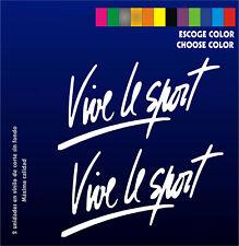 2 X PEGATINAS - STICKERS - VINILO - Vinyl - Vive le Sport - Aufkleber - Moto