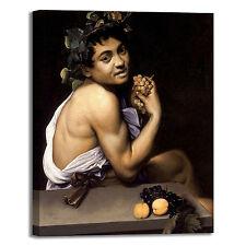 Caravaggio bacchino malato design quadro stampa tela dipinto telaio arredo casa