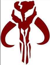 BOBA FETT Mandalorian Logo Decal Sticker Mythosaur Skull Bounty Hunter Star Wars