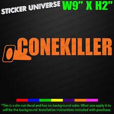 CONE KILLER Funny Car Window Decal Bumper Sticker JDM Turbo Drift Autocross 0602