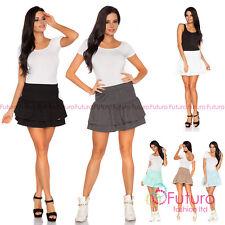 Stylish Elegant Tiered Frill Skirt Flippy Style Elastic Waist Size 8-14 FA401
