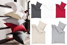 Kaeppel Biber Bettwäsche Uni 135x200cm Rot Silber Weiß Anthrazit Creme Einfarbig