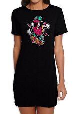 Donut Skateboarder Women's Short Sleeve T-Shirt Dress - Skateboard Clothing Tee
