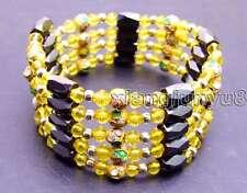 SALE Round 6mm gold Cloisonne Hematite Magnetic Beads Necklace/Bracelet-bra284