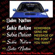 Large Subie Nation Vinyl Sticker Car Windows Decal Wrx Sti Impreza Subaru Rc117